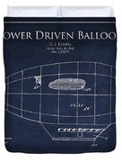 Power Driven Balloon Patent Duvet Cover by Aged Pixel
