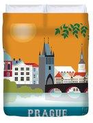 Prague Duvet Cover by Karen Young