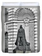 Prague - The Iron Man From A Long Time Ago And A Country Far Far Away Duvet Cover by Christine Till