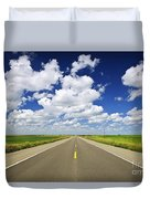 Prairie Highway Duvet Cover by Elena Elisseeva