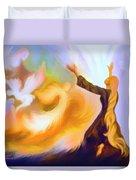Praise Him Duvet Cover by Susanna  Katherine