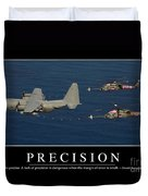 Precision Inspirational Quote Duvet Cover by Stocktrek Images