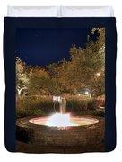 Prescott Park Fountain Duvet Cover by Joann Vitali