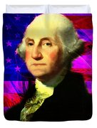 President George Washington V2 M123 Duvet Cover by Wingsdomain Art and Photography