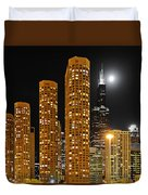 Presidential Towers Chicago Duvet Cover by Christine Till