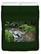 Pretty Green Creek Duvet Cover by Kaye Menner