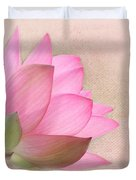Pretty In Pink Lotus Blossom Duvet Cover by Sabrina L Ryan