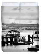 Priddy's Hard Boats Duvet Cover by Terri Waters