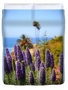 Pride Of Madeira Flowers In Orange County California Duvet Cover by Paul Velgos
