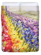 Primrose Rainbow Duvet Cover by Joan Thewsey