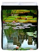 Prince Charmings Lily Pond Duvet Cover by Frozen in Time Fine Art Photography
