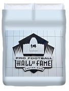 Pro Football Hall Of Fame Duvet Cover by Frozen in Time Fine Art Photography