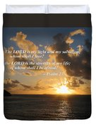 Psalm 27 1 The Lord Is My Light Duvet Cover by Susan Savad