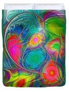 Psychedelic Colors Duvet Cover by Anastasiya Malakhova