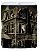 Psycho Mansion Duvet Cover by John Malone