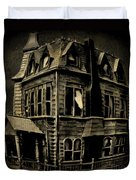Psycho Mansion Duvet Cover by John Malone