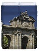 Puerta De Alcala Madrid Spain Duvet Cover by Susan Candelario