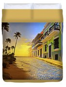 Puerto Rico Collage 2 Duvet Cover by Stephen Anderson