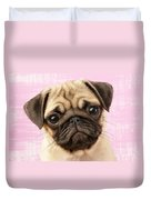 Pug Portrait Duvet Cover by Greg Cuddiford