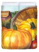 Pumpkin Pickin Duvet Cover by Carol Wisniewski