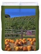Pumpkins On The Farm Duvet Cover by Joann Vitali