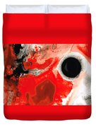 Pure Passion - Red And Black Art Painting Duvet Cover by Sharon Cummings