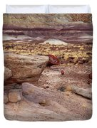 Purple Earth Duvet Cover by James Peterson