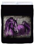 Purple One Duvet Cover by Angel  Tarantella