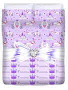 Purple Passion Princess  Duvet Cover by Debra  Miller