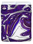 Purple People Eater Duvet Cover by Alec Drake
