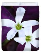 Purple Queen Flowers Duvet Cover by Sabrina L Ryan