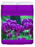 Purple Tulips Duvet Cover by Allen Beatty