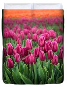 Purple Tulips Duvet Cover by Inge Johnsson
