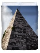 Pyramid of Rome Duvet Cover by Joan Carroll