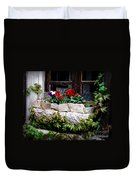 Quaint Stone Planter Duvet Cover by Lainie Wrightson