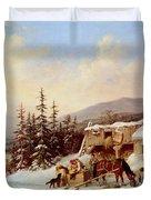 Quebec Duvet Cover by Cornelius Krieghoff