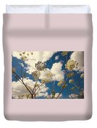 Queen Anne Lace And Sky I Duvet Cover by Jenny Rainbow