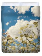 Queen Anne Lace and Sky Duvet Cover by Jenny Rainbow