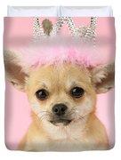 Queen Chihuahua Duvet Cover by Greg Cuddiford