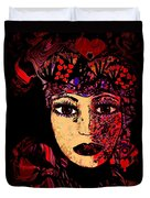 Queen Of Hearts Duvet Cover by Natalie Holland