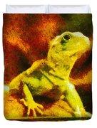 Queen of the Reptiles Duvet Cover by Ayse Deniz
