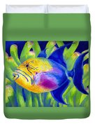 Queen Triggerfish Duvet Cover by Stephen Anderson