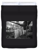 Quiet Cemetery Duvet Cover by Jennifer Ancker