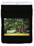 Quiet Park Corner. De Haar Castle Duvet Cover by Jenny Rainbow