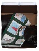 Quilt Newfoundland Tartan Green Posts Duvet Cover by Barbara Griffin