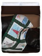 Quilt Newfoundland Tartan Green Posts Duvet Cover by Barbara Griffin