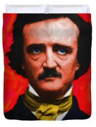 Quoth The Raven Nevermore - Edgar Allan Poe - Painterly Duvet Cover by Wingsdomain Art and Photography