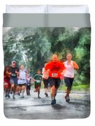 Racing In The Rain Duvet Cover by Susan Savad