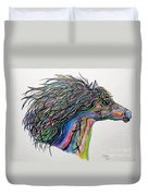 Racing The Wind ... A Story Painting Duvet Cover by Eloise Schneider