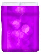 Radiant Orchid Abstract Duvet Cover by Jan Bickerton